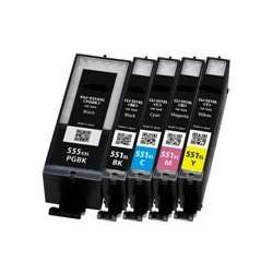 22ML Com paraCanon Pixma IP7250,MG5450,MG6350PGI-550XLPGBK.