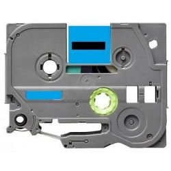 Label color Black-Pastel Blue 12mmX5m for Brother P-Touch