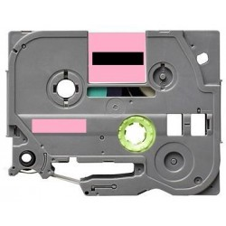 Label color Black-Pastel Pink 12mmX5m for Brother P-Touch