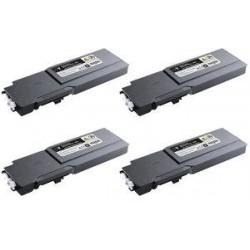Amarillo compat para Dell C3760N,3760DN,3765DNF-9K593-11120